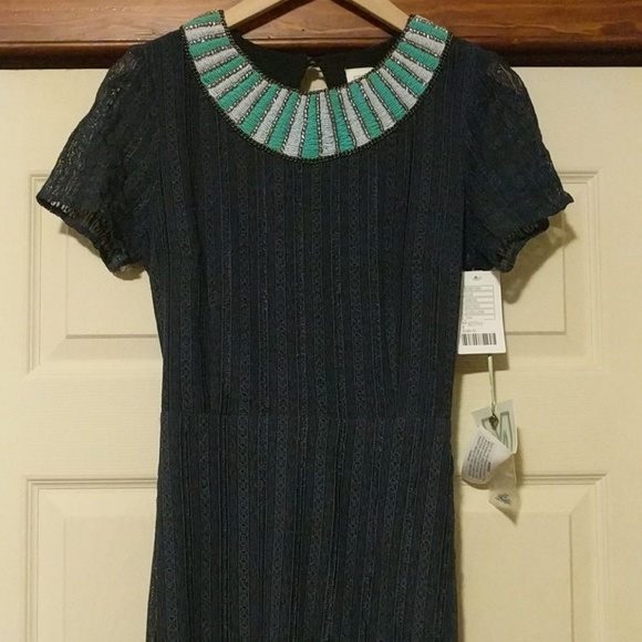 Anthropologie Dresses & Skirts - Anthro Korovilas Dress Beaded and Chain Neckline